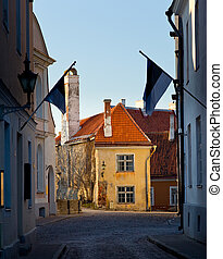 Old house in Toompea in Tallinn - Old yellow painted house...