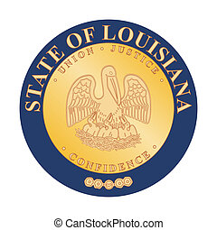 Louisiana state seal - Seal of American state of Louisiana;...