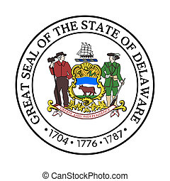 Delaware state seal - Seal of American state of Delaware;...