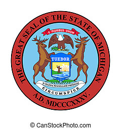 Michigan state seal - Seal of American state of Michigan;...