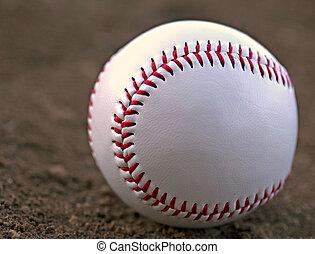 beisball, Sentado, terreno central, Suciedad