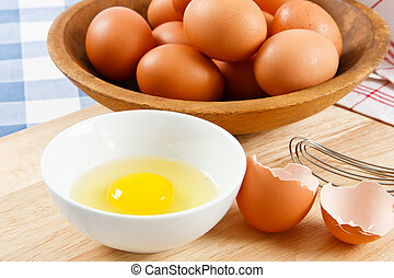 Raw Eggs - Eggs are a healthy food and a dangerous allergen...