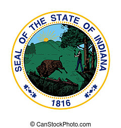 Indiana state seal - Seal of American state of Indiana;...