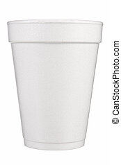 Foam Cup Front View on white background