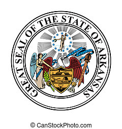 Arkansas state seal - Seal of American state of Arkansas;...