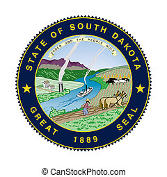 South Dakota state seal - Seal of American state of South...