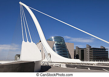 Samuel Beckett Bridge - The Samuel Beckett Bridge is the...