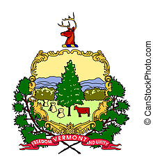 Vermont coat of arms - Seal or coat of arms of American...