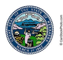 Nebraska state seal - Seal of American state of Nebraska;...