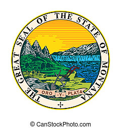 Montana state seal - Seal of American state of Montana;...