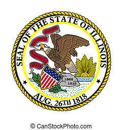 Illinois state seal - Seal of American state of Illinois;...