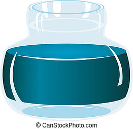 Inkwell on a white background. vector