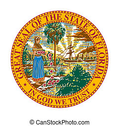 Florida state seal - Seal of American state of Florida;...