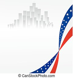 Background - American Background image element on a white...