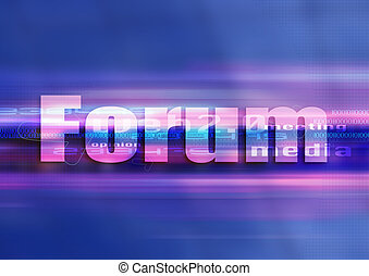 Forum graphic technology - Internet symbol forum in a...
