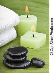 tropical green thermo-therapy (2) - hotstones, candles and...