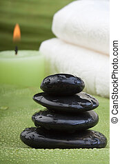 tropical green thermo-therapy 3 - hotstones, candles and...