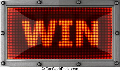 win  announcement on the LED display