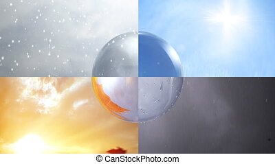 Four Seasons - Four animated seasons combined and their...