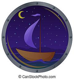 Vessel window night