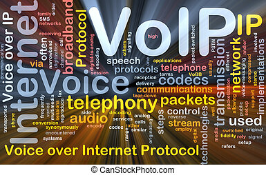 VoIP background concept glowing - Background concept...