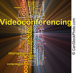 Videoconferencing background concept glowing