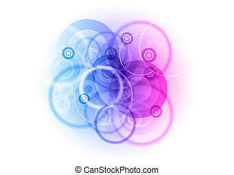middle abstract - center background with abstract circles