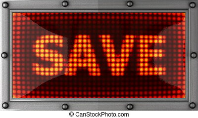 save announcement on the LED display
