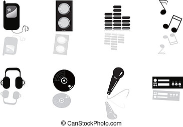 Abstract music equipment icon