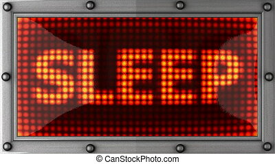sleep  announcement on the LED display