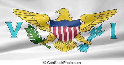 Flag of the US Virgin Islands - High resolution flag of the...
