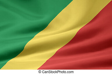 Flag of the Republic of Congo - High resolution flag the...