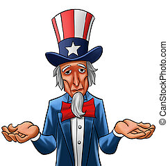 Sad uncle Sam - Uncle sam painted, he looks not so happy