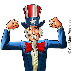 happy uncle Sam - uncle sam very happy, he got his fists up