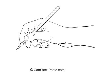 hand drawing - illustration of hand drawing or writing