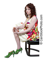 Woman with Sore Feet - A beautiful young business woman...