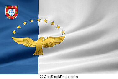 Flag of the Azores Islands - High resolution flag of the...