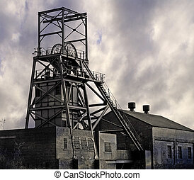 Coal Mine - Disused Pit Winding Gear