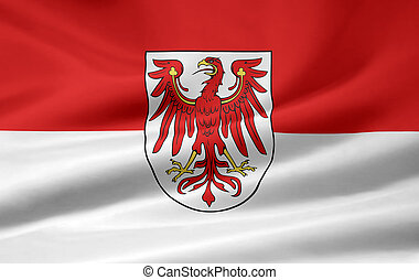 Flag of Brandenburg - Germany - High resolution flag of...