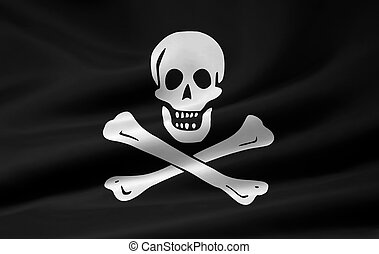 Pirate Flag - High resolution pirate flag of Rack Rackham