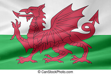 Flag of Wales - UK - High resolution flag of Wales