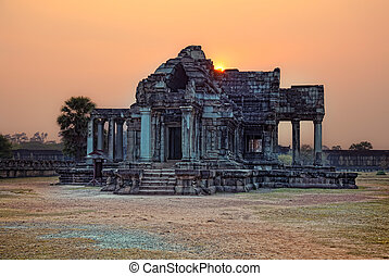 Angkor Wat - sunset photo Angkor Wat - ancient Khmer temple...