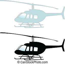 Helicopter illustration - Helicopter - vector illustration