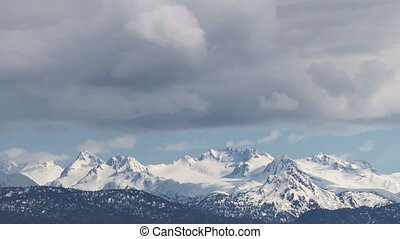 Mountains and Clouds - Storm clouds move over the Kenai...