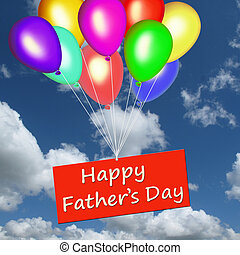 Happy Father's Day with balloons