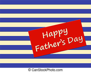Happy Fathers Day card with stripes