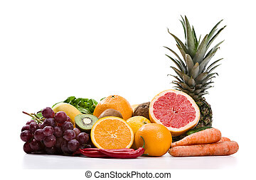 Fruits and vegetables - Full frame photograph of a broad...