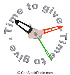 Time to give charity giving financial support and helping...