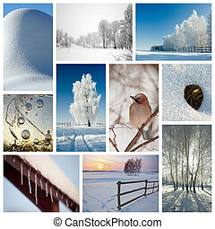 Winter Collage - Winter collage representing various...