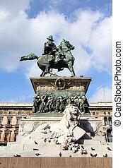 Vittorio Emanuele II - Milan, Italy - famous king Vittorio...